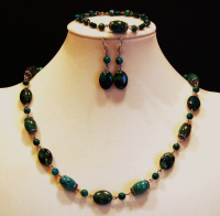 Chrysocolla with silver cleaner