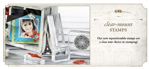 Clear mount stamps banner