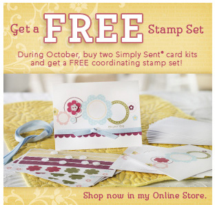FREE SET WITH 2 SIMPLY SENT KITS.
