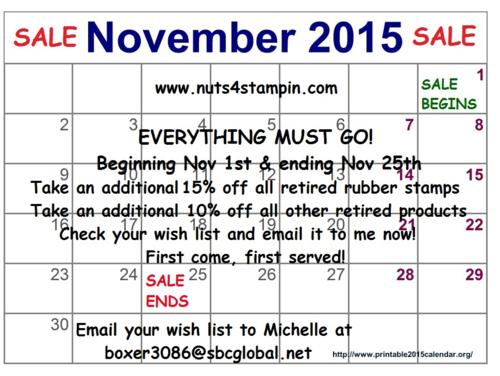 November-2015-Calendar, SALE
