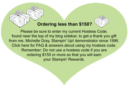 Hostess Code Heart with gift boxes