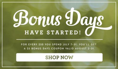 Bonus Days, July 2016