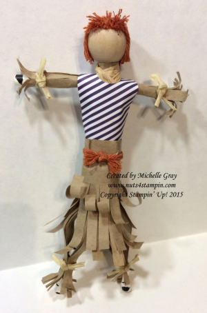 Scarecrow Girl made with Wickedly Sweet Treat Paper Pumpkin kit, #140786, $17.00